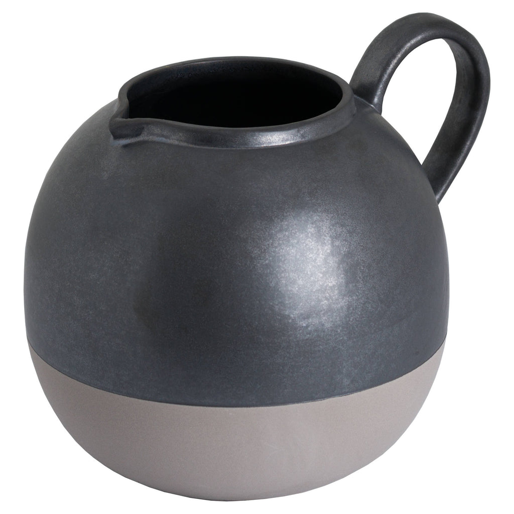 Metallic Grey Bulbous Jug