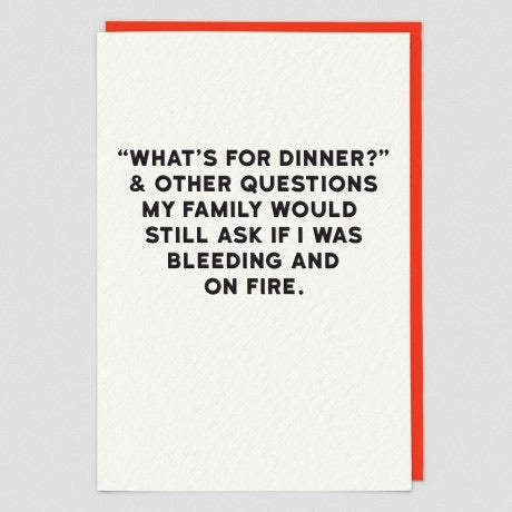 What's for dinner Card