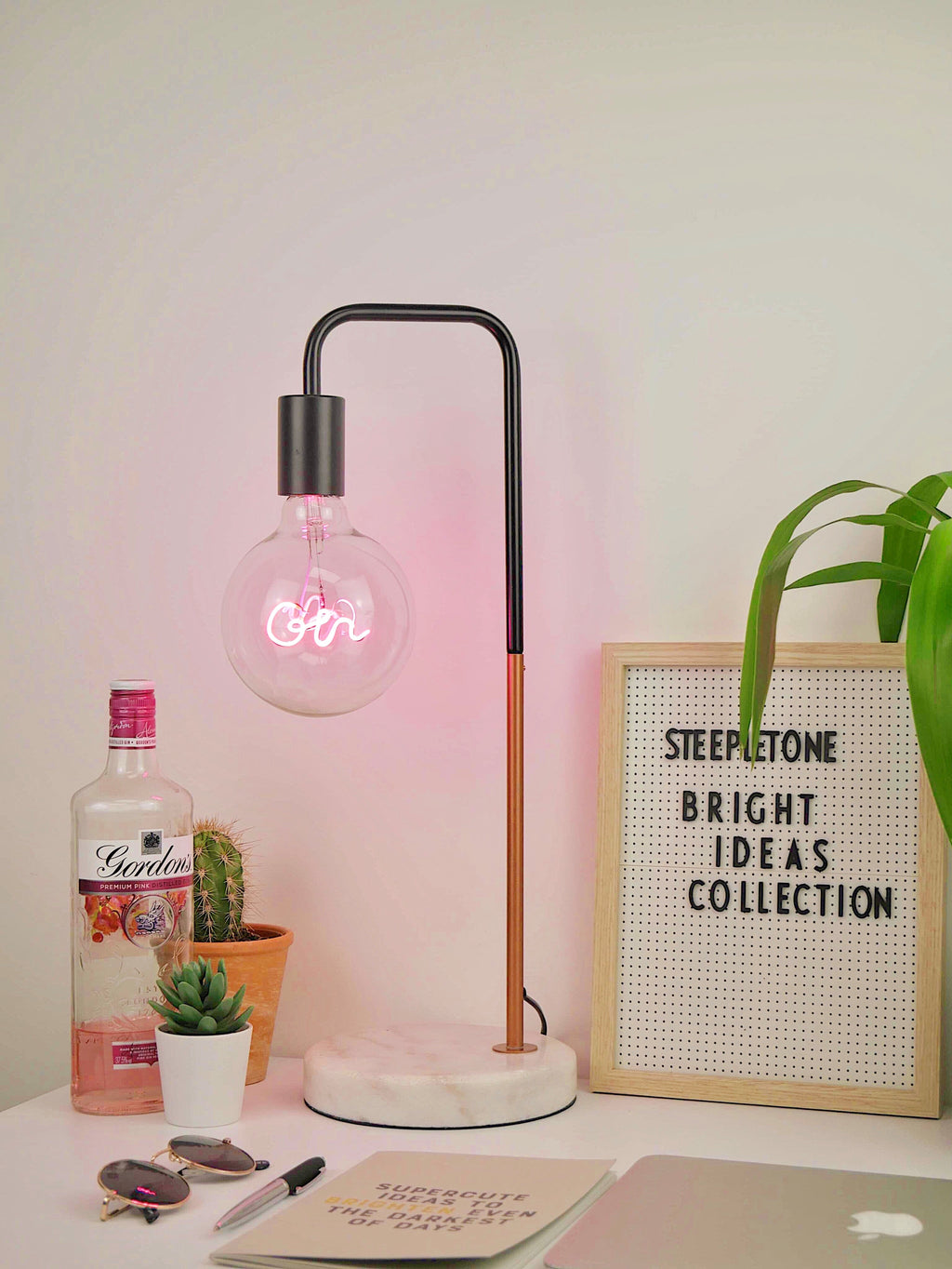 Pink Neon Gin LED Bulb