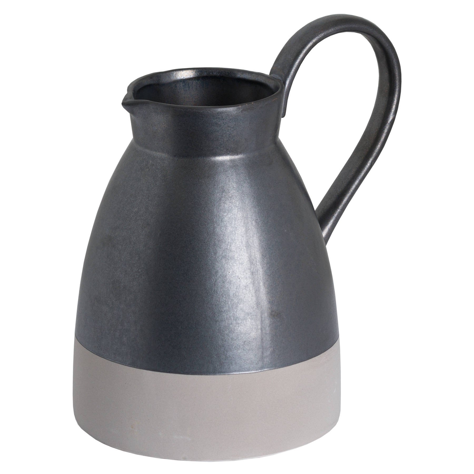 Metallic Grey Tall Jug