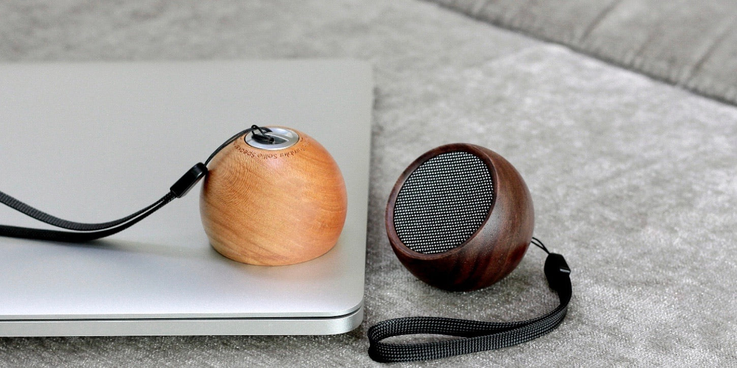 Tumbler Selfie Bluetooth Speaker in Walnut