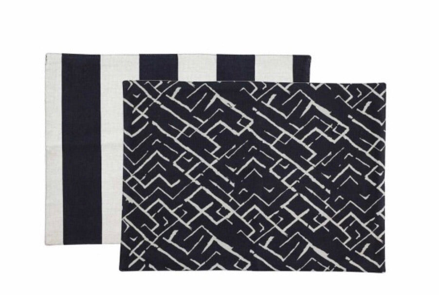 Reversible Monochrome Placemats - set of 4