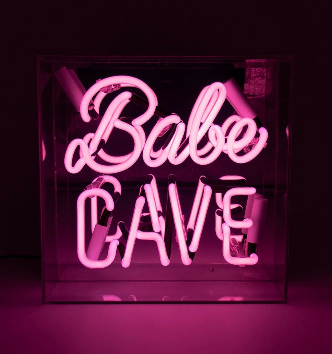 Neon Babe Cave Light in Acrylic Box
