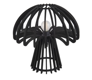 Black wood mushroom light