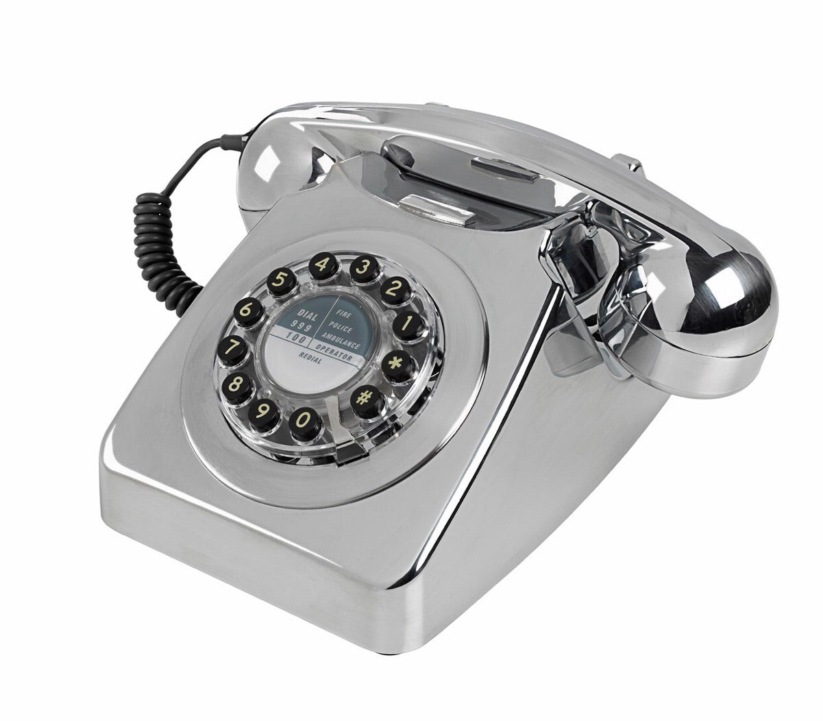Brushed Chrome telephone 746