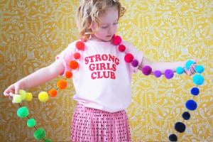Kids Strong Girls Club t shirt pink