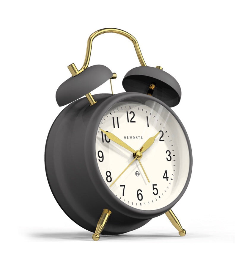 Grey and Brass Brick Lane Alarm Clock
