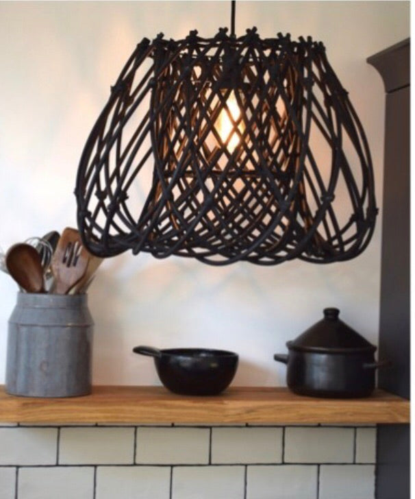 Black Rattan light shade