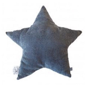 Grey corduroy star cushion