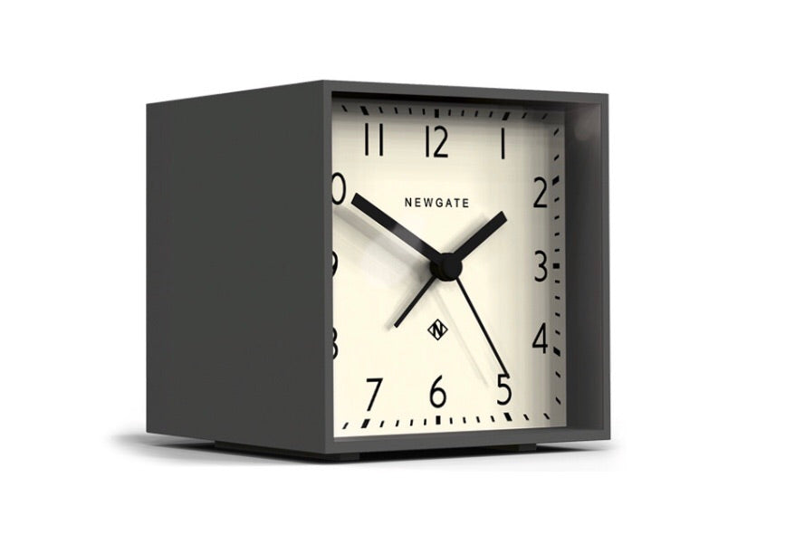 Dark Grey Cubist Alarm Clock