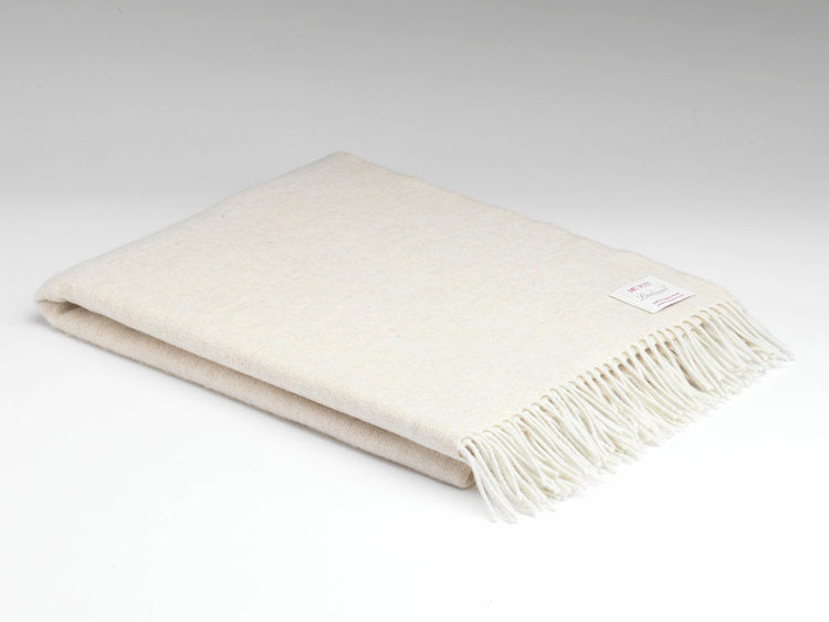 Linen Herringbone Supersoft throw