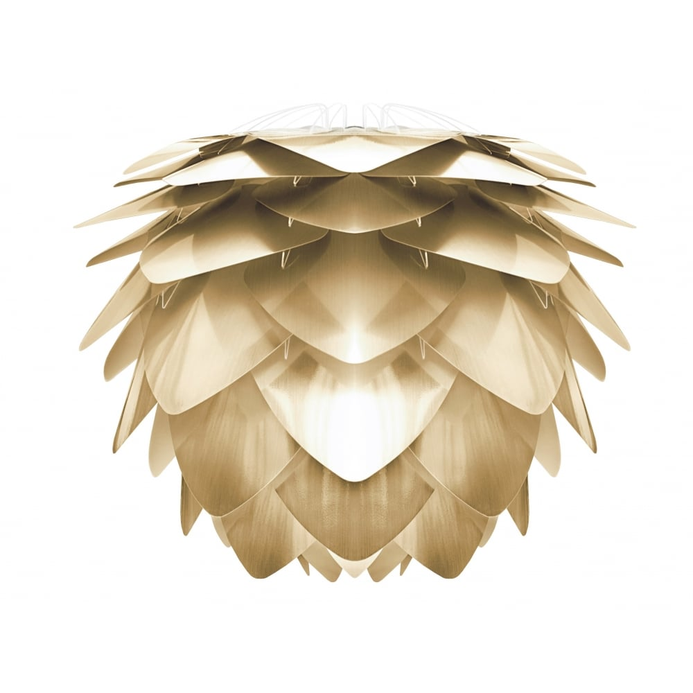 VITA Silvia Brushed Brass medium lampshade