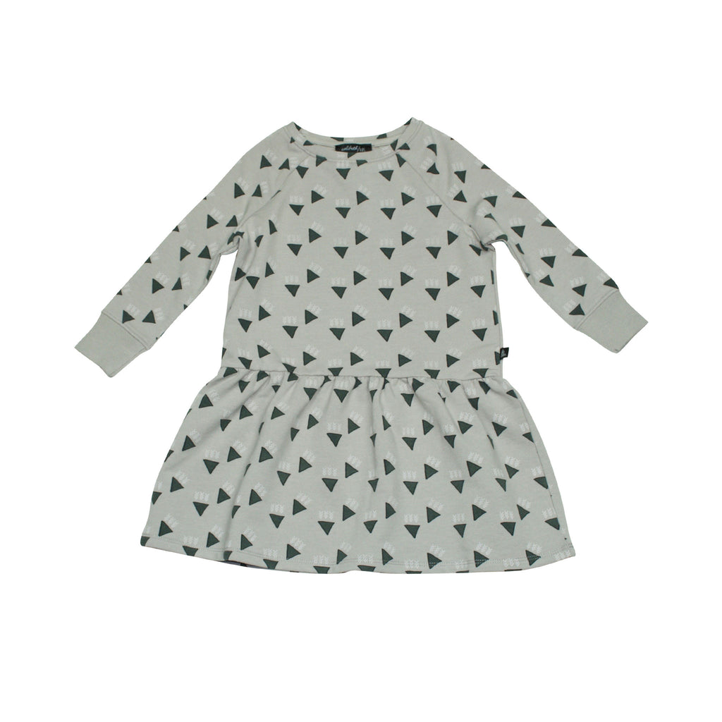 Peplum Dress - Grey