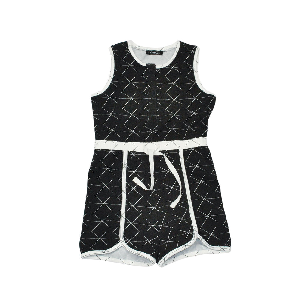 Jogging Romper - Black X