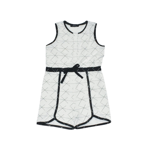 Jogging Romper - White X