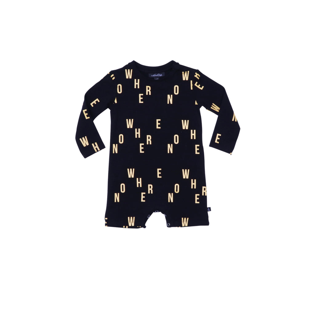 Long Sleeve Onesie - Black