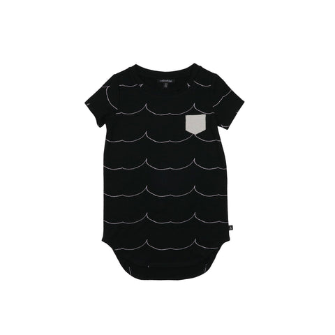 Pocket Tee Dress - Shark