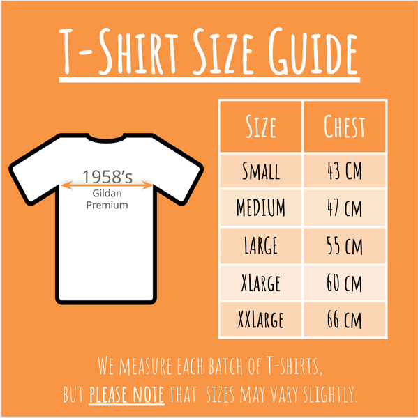 Size Guide - 1958 Reissue T-Shirt