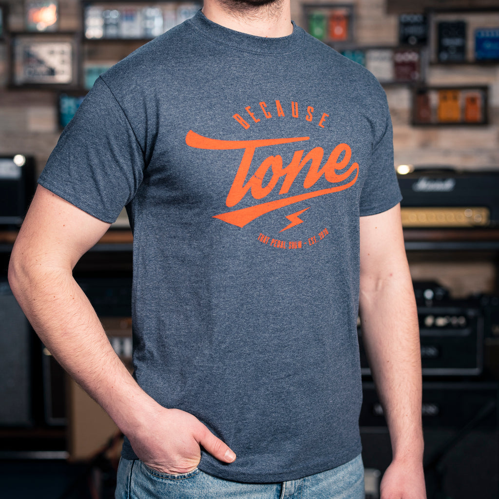 Because Tone® Relic Special Edition T-Shirt - Heather Navy/Orange