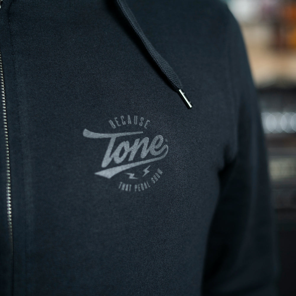 Because Tone® Zip-Up Hoodie - Black on Black