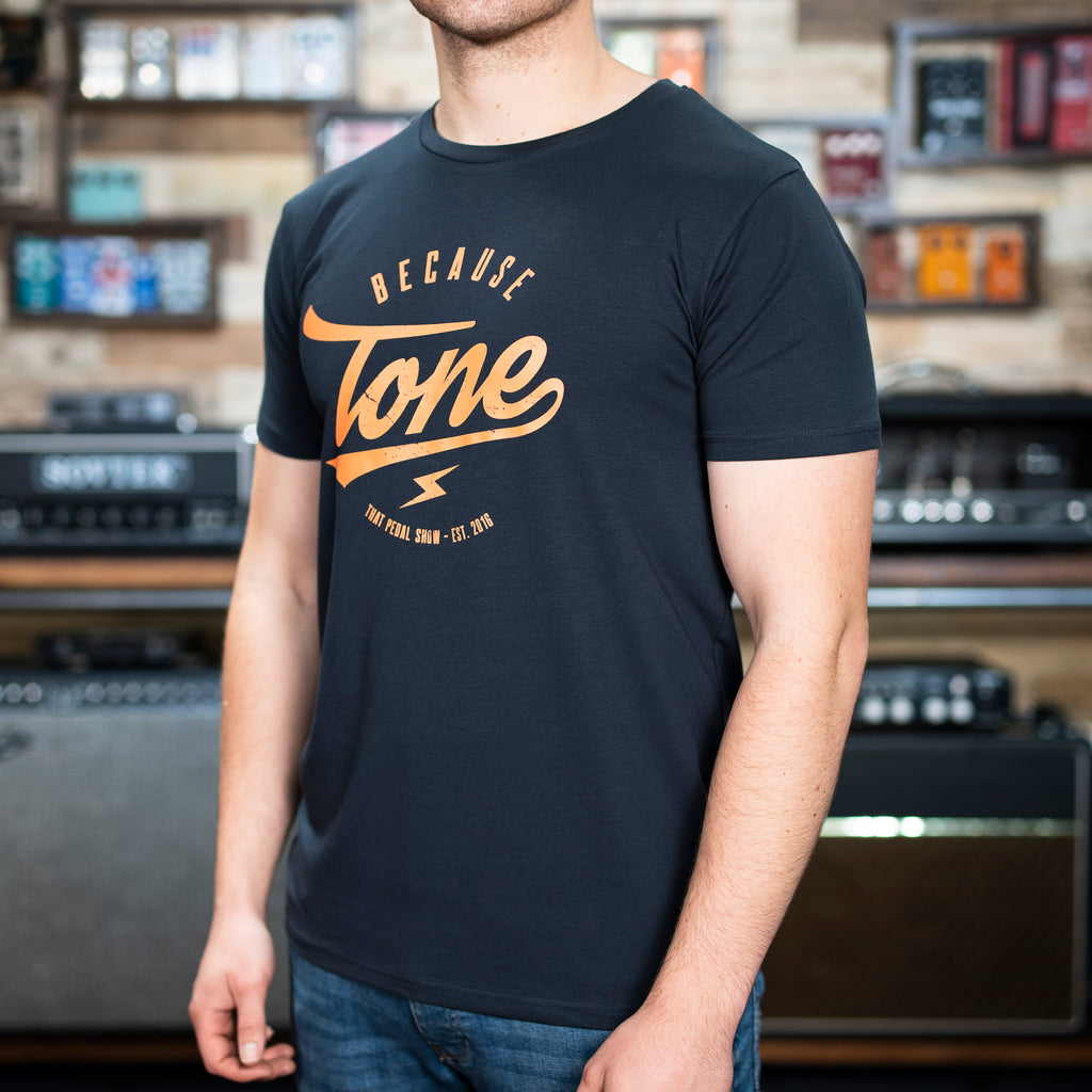 NEW! Because Tone® Relic Special Edition T Shirt - Navy Blue/Orange