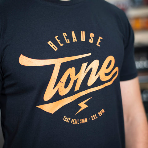NEW! Because Tone Relic Special Edition T Shirt - Navy Blue/Orange