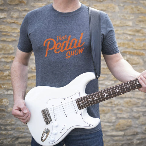 That Pedal Show Relic Logo Short Sleeve T-Shirt - Heather Dark Grey/Orange