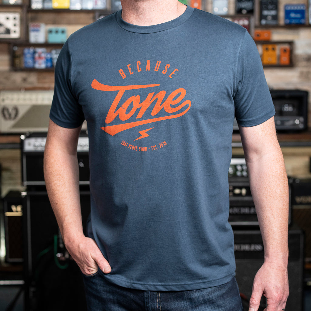 Because Tone® Relic Special Edition T-Shirt - Denim Blue/Burnt Orange