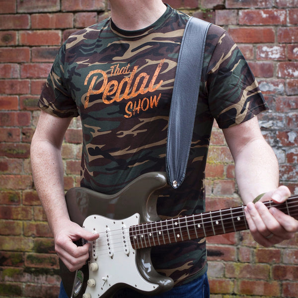 That Pedal Show Special Edition T-Shirt - Camouflage Green with Orange Relic Logo