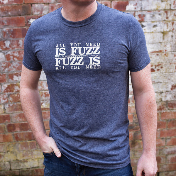 'All You Need Is Fuzz' Special Edition T-Shirt - Heather Navy/Stone White - That Pedal Show Shop - 3