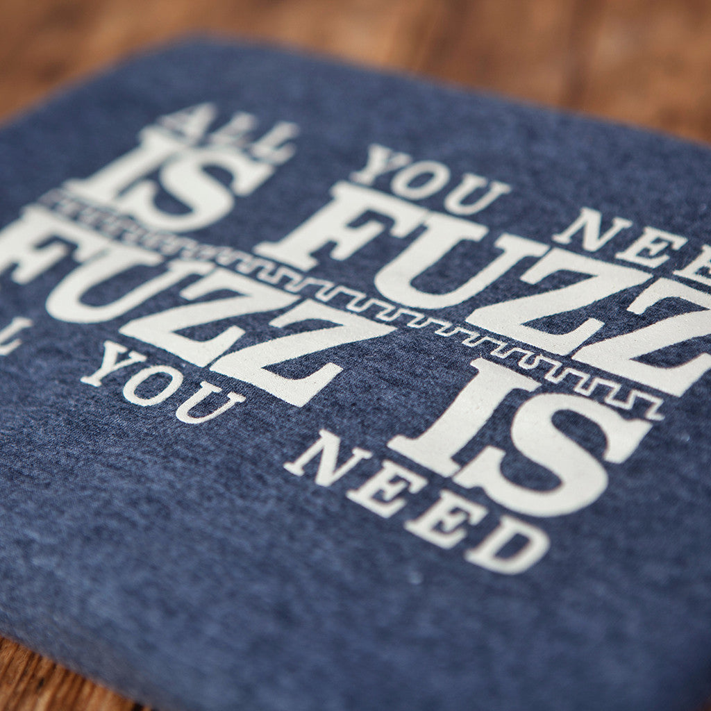 'All You Need Is Fuzz' Special Edition T-Shirt - Heather Navy/Stone White - That Pedal Show Shop - 2