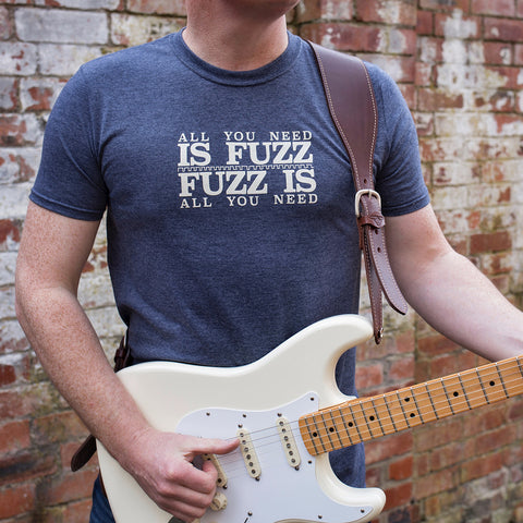 'All You Need Is Fuzz' Special Edition T-Shirt - Heather Navy/Stone White - That Pedal Show Shop - 1