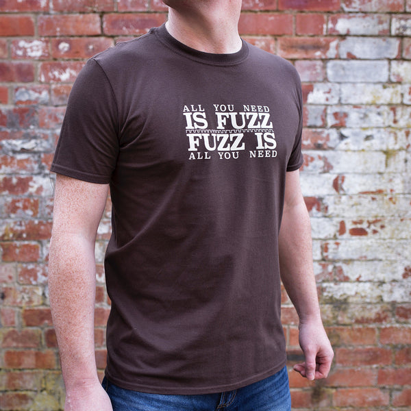 'All You Need Is Fuzz' Special Edition T-Shirt - Dark Chocolate/Stone White - That Pedal Show Shop - 3