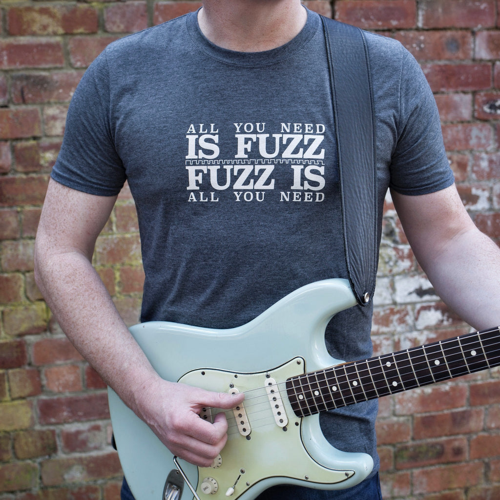 'All You Need Is Fuzz' Special Edition T-Shirt - Heather Dark Grey/Stone White