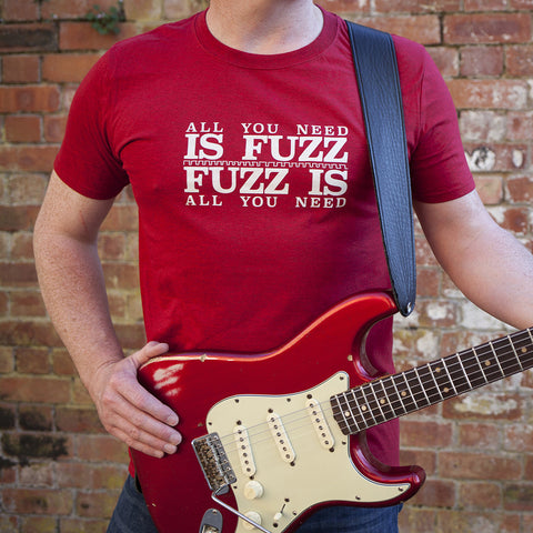 'All You Need Is Fuzz' Special Edition T-Shirt - Cherry Red/Stone White