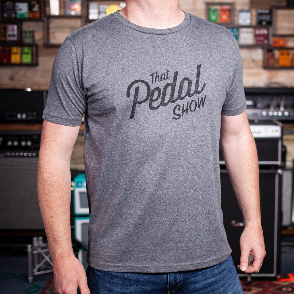 That Pedal Show Relic Logo T-Shirt - Dark Heather Grey/Black