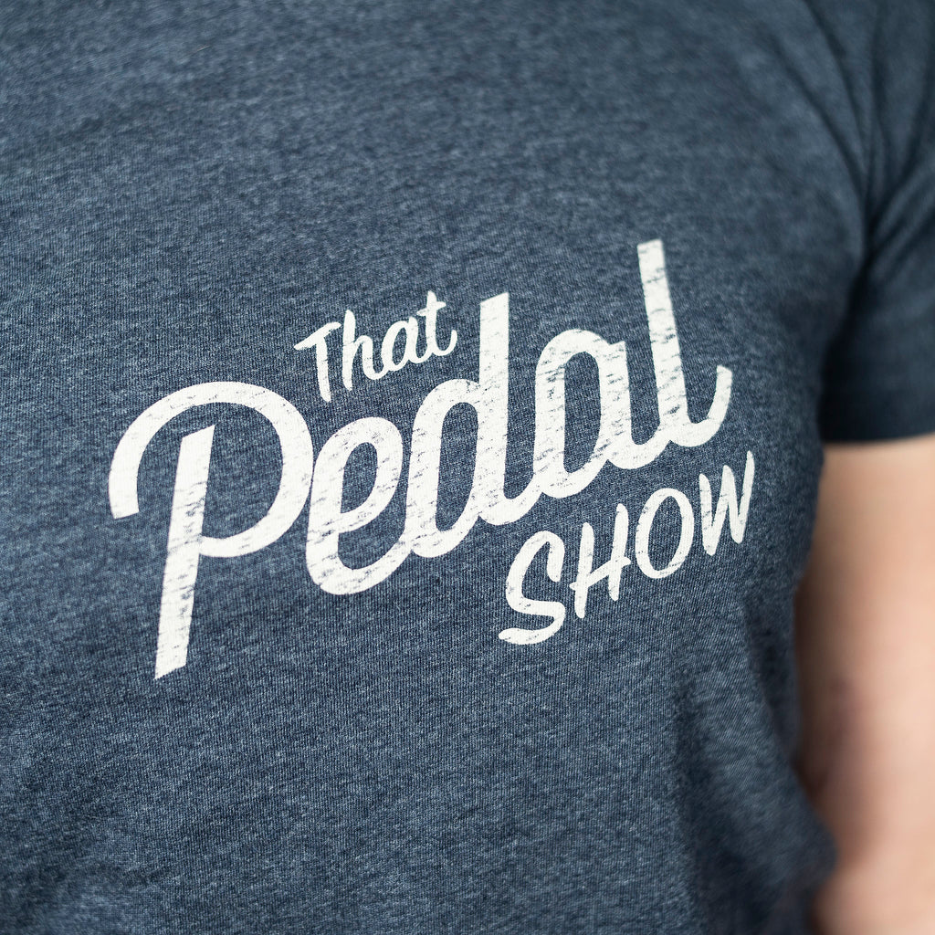 That Pedal Show Relic Logo Short Sleeve Women's T-Shirt - Melange Navy/Light Grey