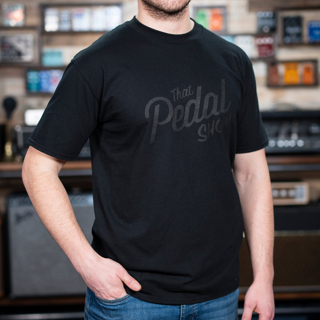 That Pedal Show Logo 'Stealth' T Shirt - Black/Black