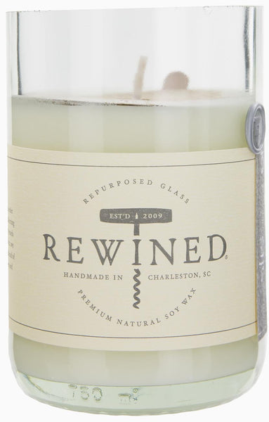 Rewined Soy Wax Scented Candle - Rose :: Blanc Collection