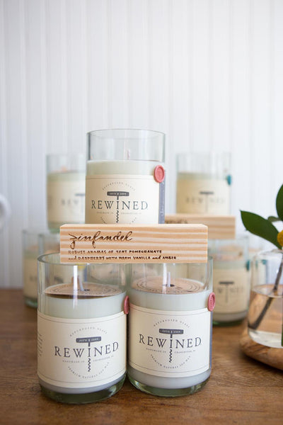 Rewined Soy Wax Scented Candle - Viognier :: Blanc Collection