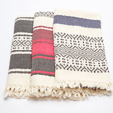 Ixchel Beach Throw: Black and White