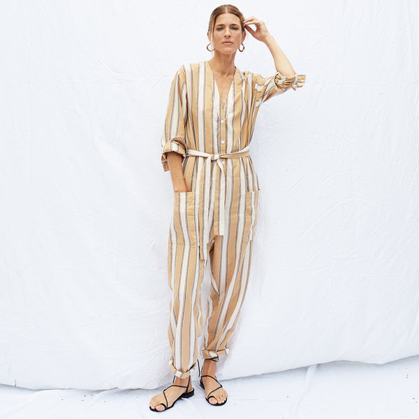The Atlas Jumpsuit In Desert Stripe