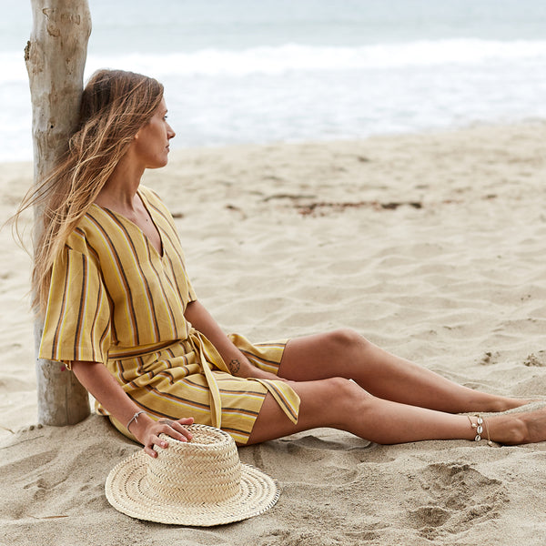The Joni Dress in Sun Stripe