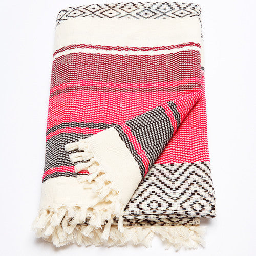Ixchel Beach Throw: Rose