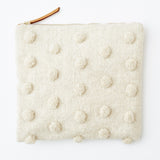 Oversized Animal Clutch in Natural Pom Pom