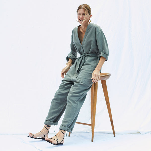 The Atlas Jumpsuit in Sage