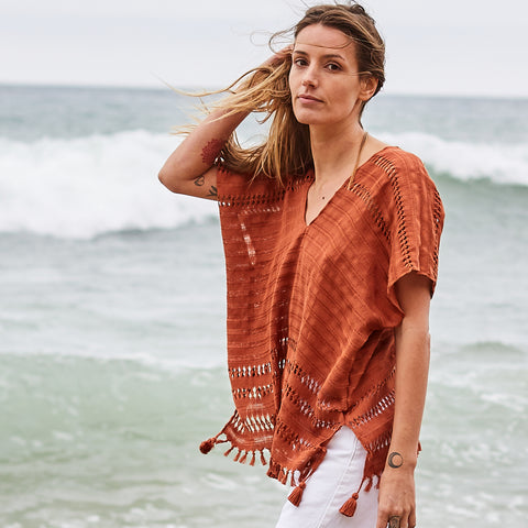 The Caftan Shorty in Terra Cotta