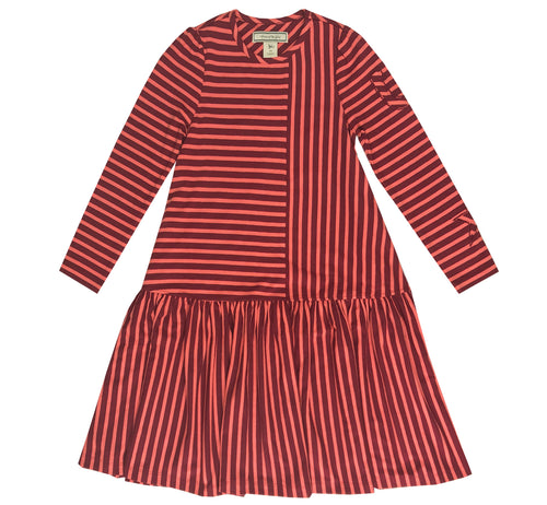 Red Striped Swing Dress