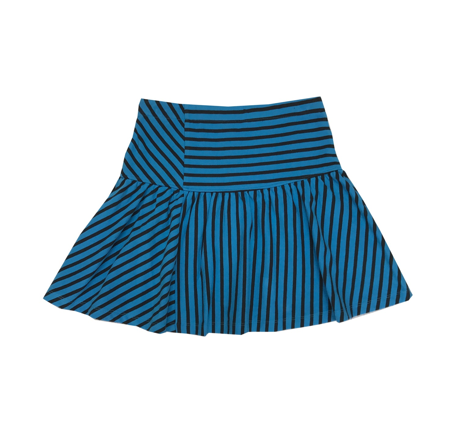 Striped Flared Skirt