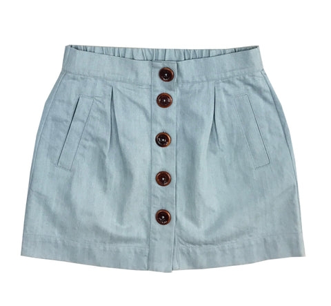 Organic Cotton Denim Skirt